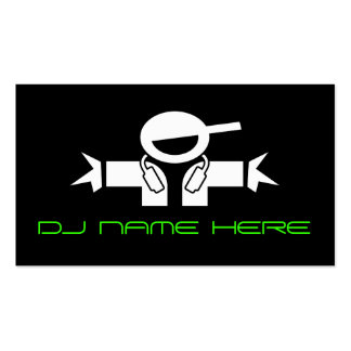 Cartões de visitas do DJ