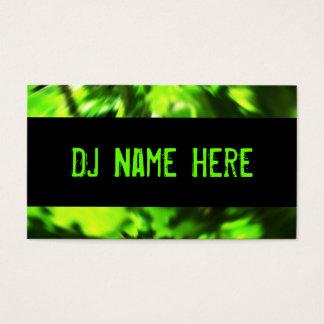 Cartões de visitas do DJ no verde e no preto