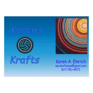 Cartões de visitas do Krafts de Karen - carnudos