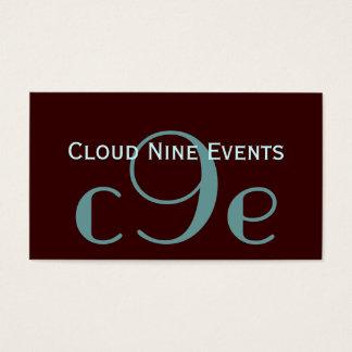 Cartões de visitas do logotipo do monograma do pla