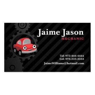 Cartões de visitas do mecânico