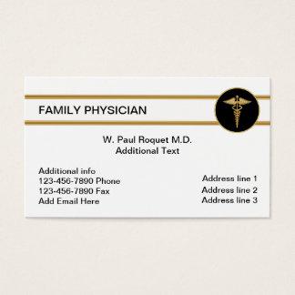Cartões de visitas do médico de família