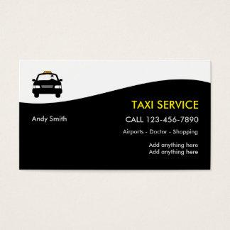 Cartões de visitas do negócio do táxi