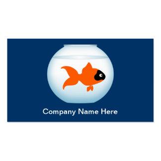 Cartões de visitas do peixe dourado