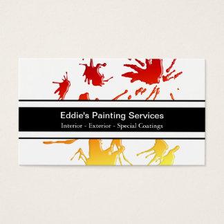 Cartões de visitas do pintor