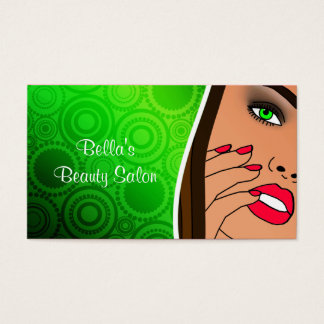Cartões de visitas do salão de beleza