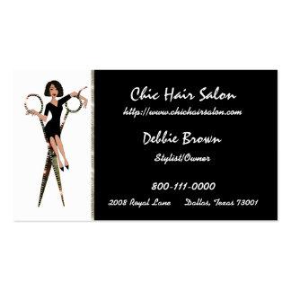 Cartões de visitas do salão de beleza (afro-americ