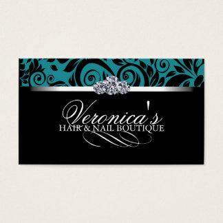Cartões de visitas do salão de beleza do cabelo e