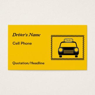 Cartões de visitas do tabuleiro de damas do taxist