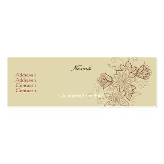 Cartões de visitas do tatuagem da tulipa (areia)