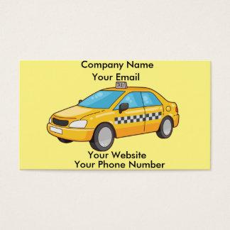 Cartões de visitas do taxista