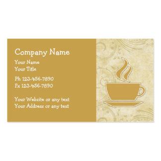Cartões de visitas do tema do café