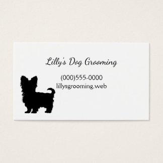 """Cartões de visitas do """"yorkshire terrier"""""""