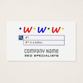 Cartões de visitas dos consultantes de SEO