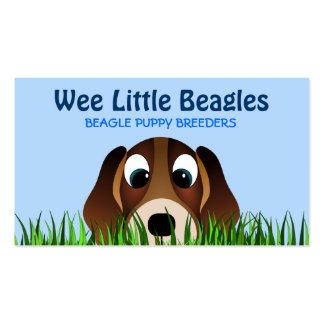 Cartões de visitas dos criadores de cão do filhote