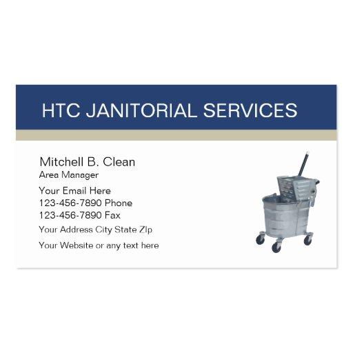 Cartões de visitas dos serviços de limpeza