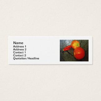 Cartões de visitas dos tomates e das pimentas de