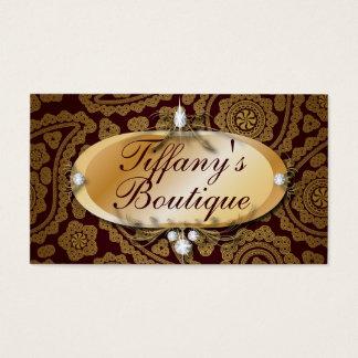Cartões de visitas elegantes da forma de Paisley