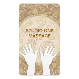 Cartões de visitas elegantes da massagem