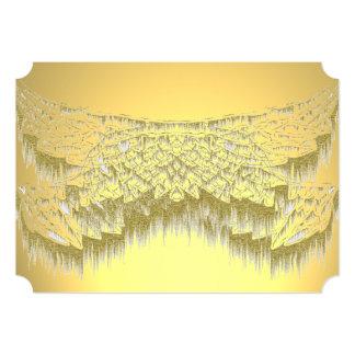 Cartões de visitas espirituais elegantes do ouro convite 12.7 x 17.78cm