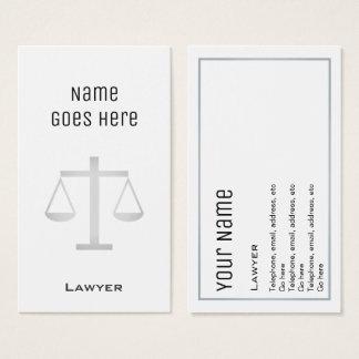 """Cartões de visitas """"essenciais"""" do advogado"""