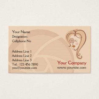 Cartões de visitas fêmeas do fotógrafo