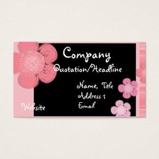 Cartões de visitas florais cor-de-rosa da beira