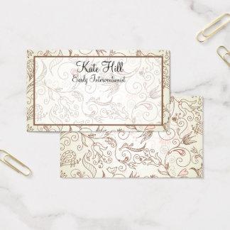 Cartões de visitas florais delicados