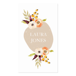 Cartões de visitas florais do país do outono