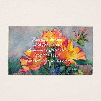 Cartões de visitas florais para jardineiro ou