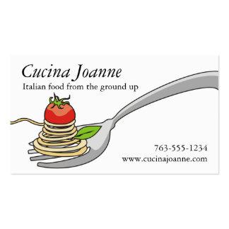Cartões de visitas italianos da comida do tomate