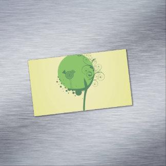 Cartões de visitas magnéticos da árvore abstrata