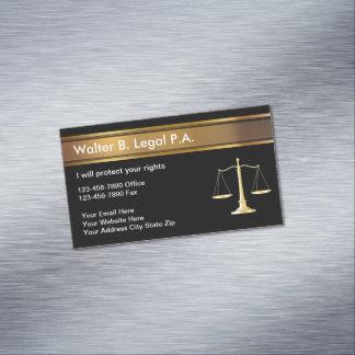 Cartões de visitas magnéticos do advogado elegante