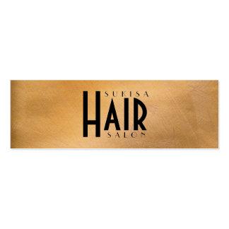 Cartões de visitas magros do cabeleireiro metálico