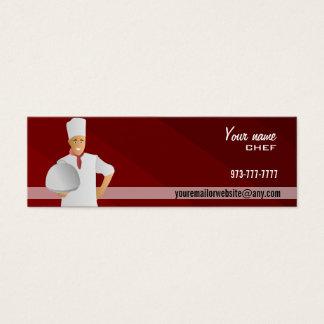 Cartões de visitas magros do cozinheiro chefe