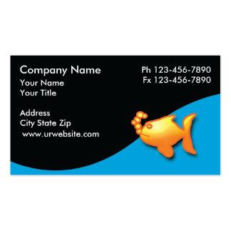 Cartões de visitas marinhos do aquário