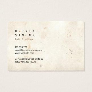 Cartões de visitas minimalistas do vintage