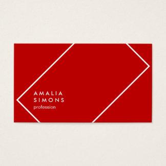 Cartões de visitas minimalistas vermelhos