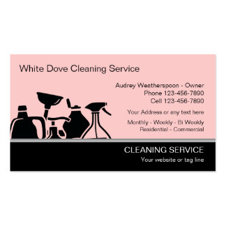 Cartões de visitas modernos da limpeza
