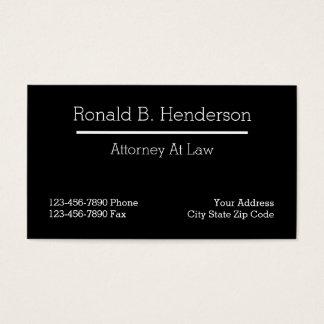 Cartões de visitas novos do advogado
