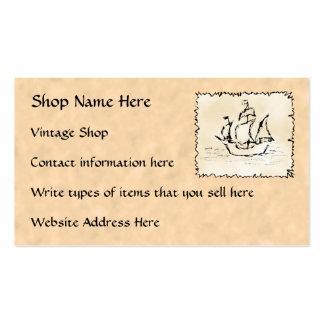 Cartões de visitas para a loja em linha do vintage
