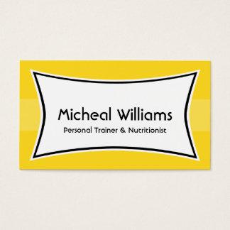 Cartões de visitas pessoais amarelos brilhantes do