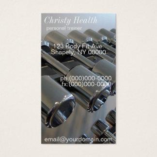 Cartões de visitas pessoais do instrutor