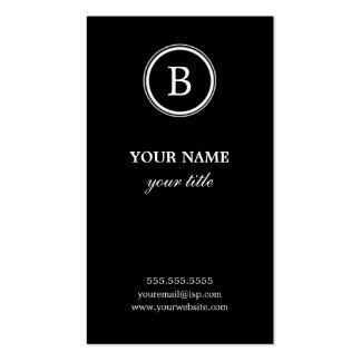 Cartões de visitas preto e branco elegantes do