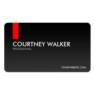Cartões de visitas pretos e vermelhos modernos,