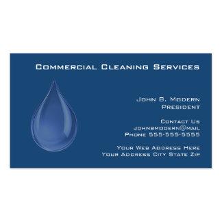 Cartões de visitas profissionais da limpeza
