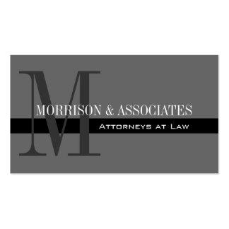 Cartões de visitas profissionais do advogado cinze
