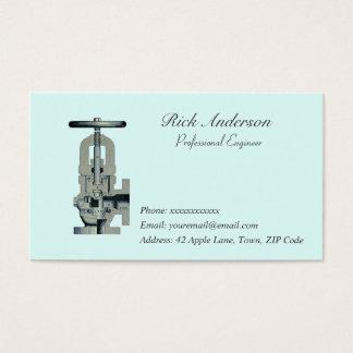 Cartões de visitas profissionais do engenheiro