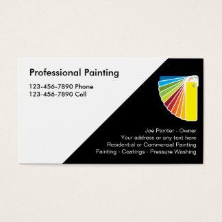 Cartões de visitas profissionais do pintor