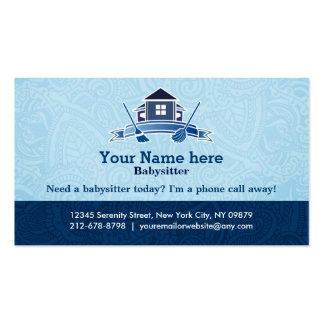 Cartões de visitas residenciais da limpeza